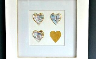 diy map love hearts, crafts, decoupage, wall decor