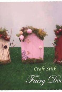 fairy garden doors easy craft stick diy, crafts, gardening