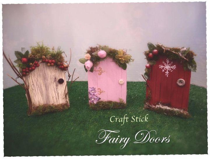 Fairy garden doors easy craft stick diy hometalk for Make an elf door