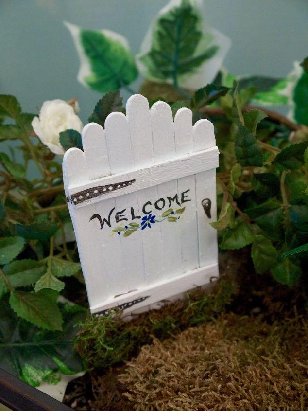 Fairy Garden Doors Easy Craft Stick Diy Hometalk