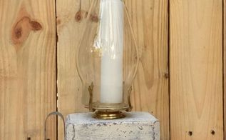 recycle a pallet block and make a shabby chic lantern, outdoor living, pallet, shabby chic