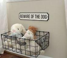 hanging dog toy storage, storage ideas