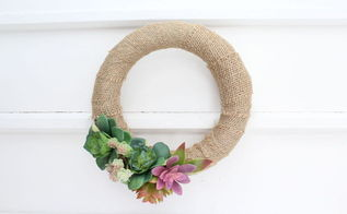diy dollar store succulents wreath, crafts, flowers, gardening, succulents, wreaths
