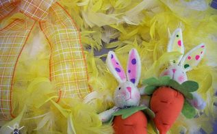 make an easter wreath with feathers, crafts, easter decorations, seasonal holiday decor, wreaths