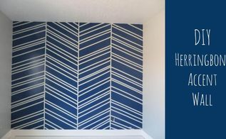 diy herringbone accent wall, bedroom ideas, how to, painting, wall decor