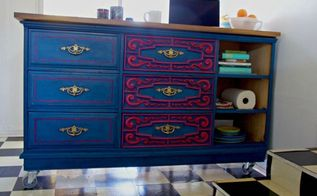turn a thrift store bargain into a kitchen island, kitchen design, kitchen island, painted furniture, repurposing upcycling
