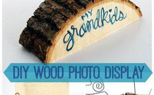 diy wood photo holder for grandparents, crafts