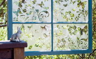 diy garden window how to etch glass, crafts, how to, repurposing upcycling, windows