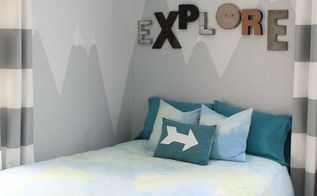 a painted mural makes the perfect headboard, bedroom ideas, painting, wall decor