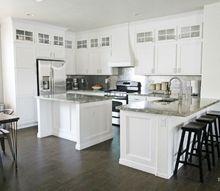 diy stacked cabinet kitchen makeover, kitchen cabinets, kitchen design