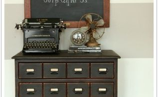 creating a faux card catalog, painted furniture