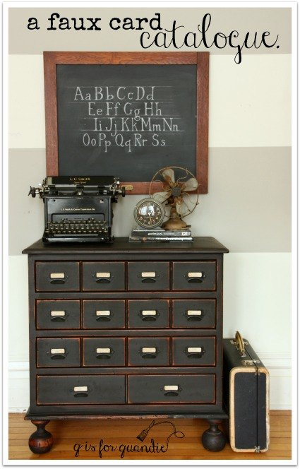 Creating a faux card catalog hometalk for X furniture catalogue