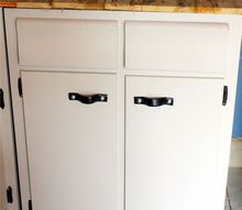 kitchen cabinet workbench, diy, kitchen cabinets, painted furniture, repurposing upcycling, woodworking projects