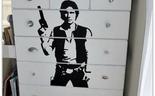 han solo dresser makeover, painted furniture