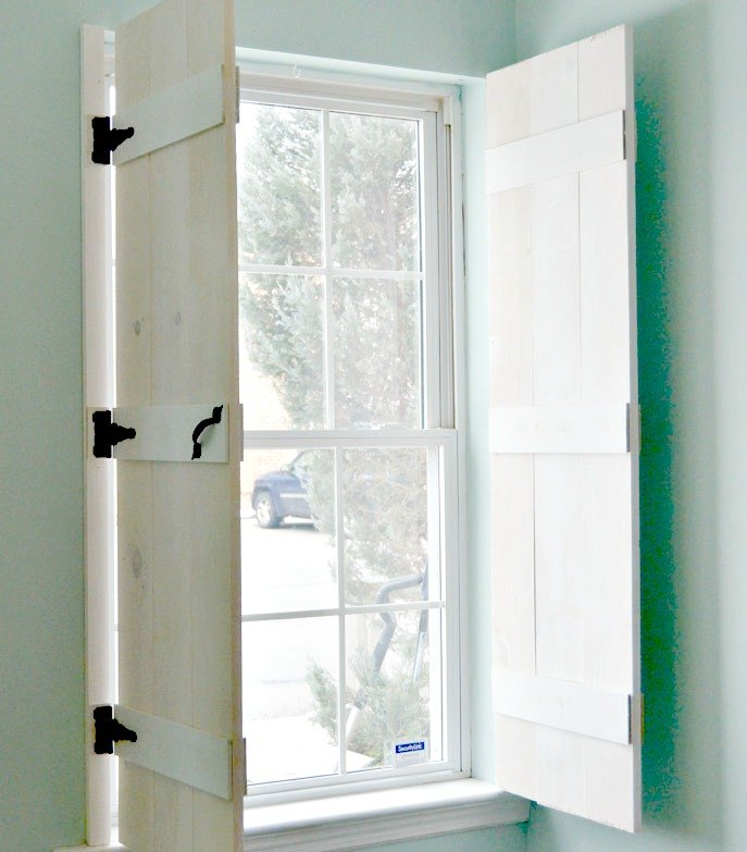 DIY Farmhouse Style Indoor Shutters