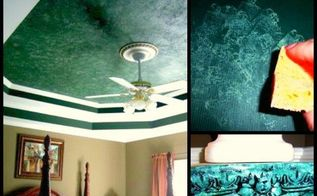 how to paint a faux marble ceiling, diy, painting, wall decor