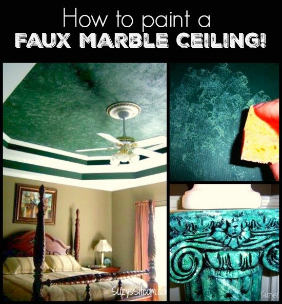 How To Paint A Faux Marble Ceiling Hometalk