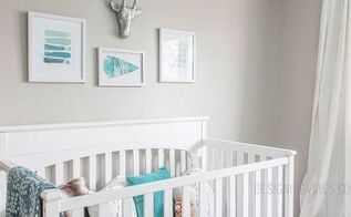 dark outdated space to fresh tribal nursery, bedroom ideas, paint colors, painting