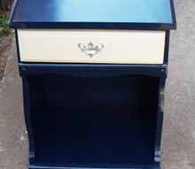 beat up nightstand to true blue beauty, painted furniture