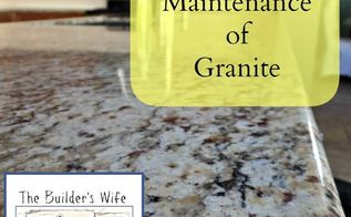 proper care and maintenance of granite, cleaning tips, concrete masonry, countertops, home maintenance repairs, how to