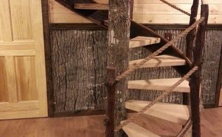 bark walls harvesting poplar bark, diy, repurposing upcycling, wall decor