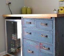 beat up garage cabinet becomes a custom kitchen countertop base, countertops, kitchen cabinets, kitchen design, painted furniture, repurposing upcycling