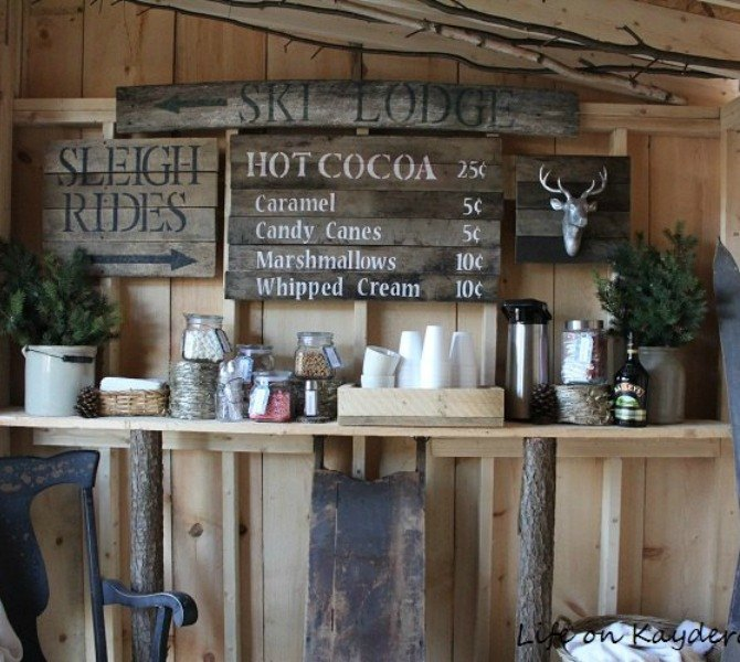 Their Backyard Hot Cocoa Bar Inside