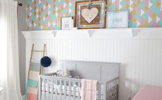 a modern stenciled nursery done right, bedroom ideas, diy, how to, painting, wall decor