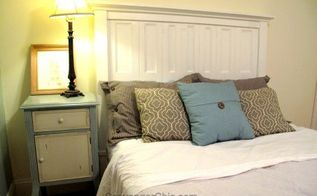 headboard made from salvaged shutters diy, diy, painted furniture, repurposing upcycling