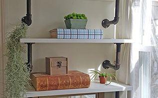 diy industrial shelves, dining room ideas, shelving ideas