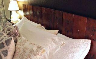 reclaimed wood headboard, bedroom ideas, diy, repurposing upcycling, woodworking projects