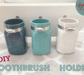 Small Bathroom Jars Diy Mason Jar Toothbrush Holder   Hometalk