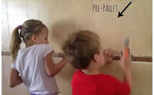how to create a pallet wall photo display, diy, how to, pallet, wall decor