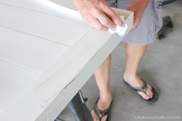 how to distress new wood fixerupperstyle, how to, painted furniture