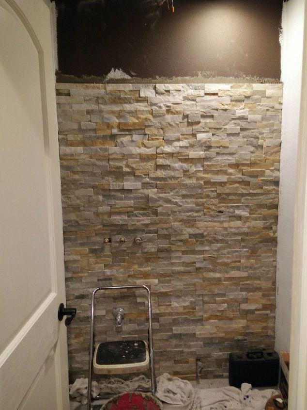 Half bath renovation hometalk for Bathroom home improvement