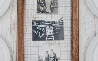unique way to display photos in a diy picture frame, crafts, how to, repurposing upcycling, wall decor