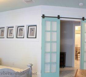 Reclaimed French Doors On Rolling Door Hardware Fixerupperstyle, Bedroom  Ideas, Diy, Doors,