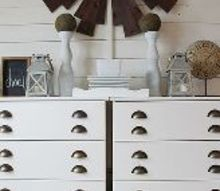 ikea hack tarva dresser turned printers console style buffet, painted furniture