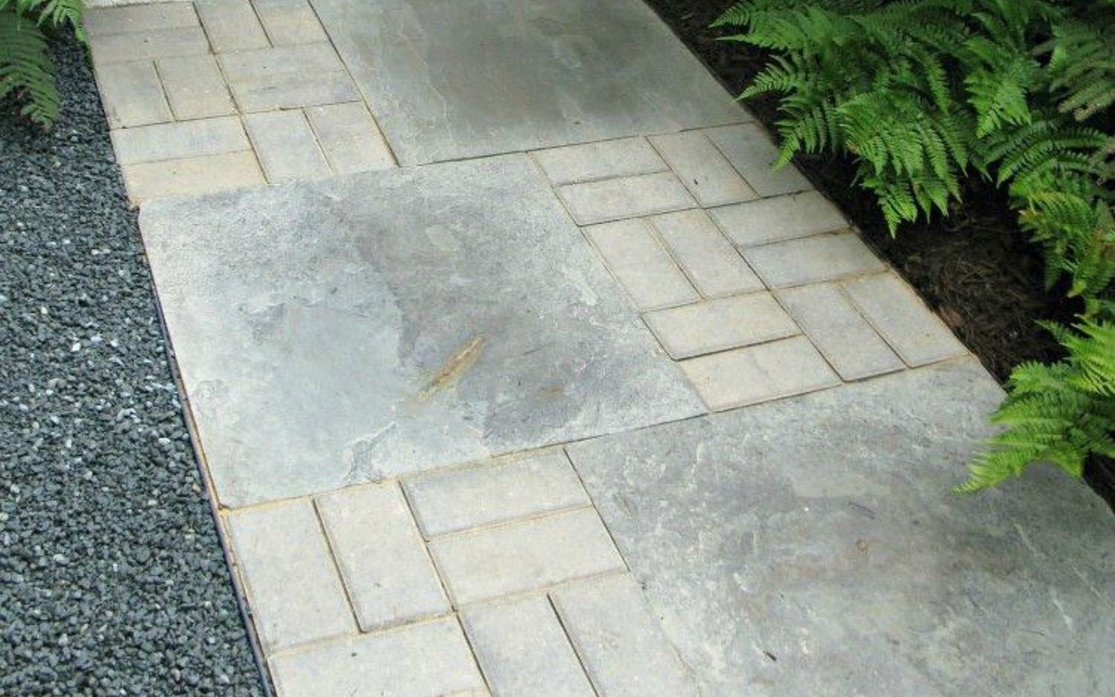 s 9 budget ways to make your walkway look even better than last year, concrete masonry, gardening, Design a trail using inexpensive pavers