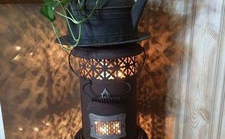 little oil heater repurposed, hvac, repurposing upcycling, Little lighted oil heater