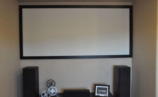movie night make your own projector screen for less than 100, diy, how to, wall decor
