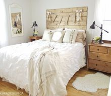 how to make a wood plank headboard, bedroom ideas, how to, pallet, woodworking projects