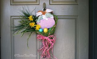 repurposed placemat to welcome spring decoration, crafts, seasonal holiday decor, wreaths