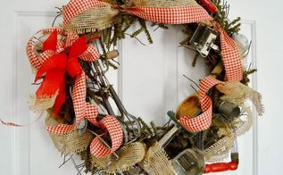 vintage kitchen tool wreath, crafts, repurposing upcycling, wreaths