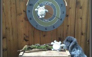 cute night owl clock art, crafts, wall decor