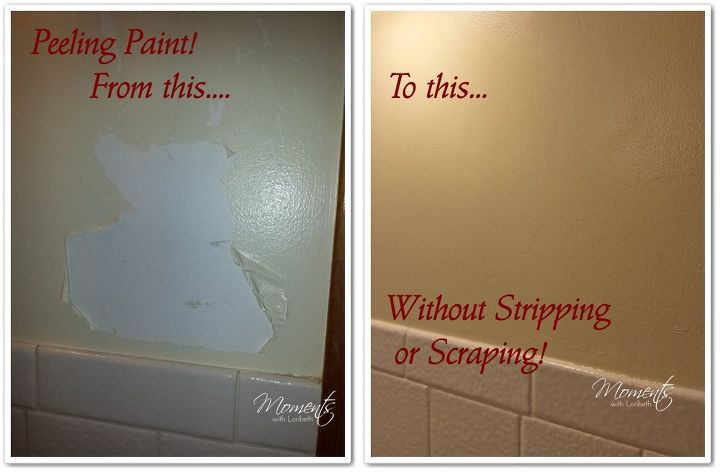 to fix peeling paint without scraping cleaning tips how to painting. Black Bedroom Furniture Sets. Home Design Ideas