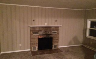 q how do i make this fireplace look good on a budget help, fireplaces mantels