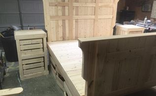 king size pallet bed, pallet, woodworking projects