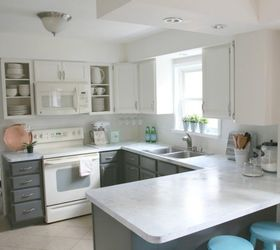 superior How To Transform Your Kitchen Cabinets #5: Take off a few doors to create open shelving