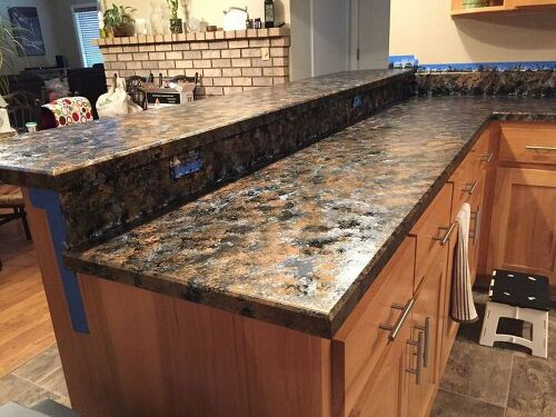 Countertop Paint Near Me : want to cover up or paint my old Formica counter tops in the kitchen ...